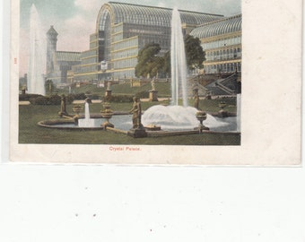 Undivided Back Antique Postcard London-Massive All Glass-Crystal Palace-Beautiful Subtle Color Tint-Must See-Unused