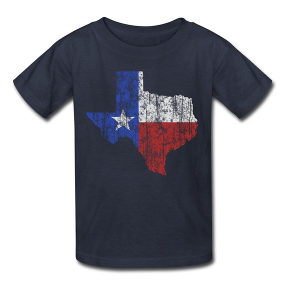 Kid 39 s texas lone star t shirt dallas fort worth houston for T shirt printing fort worth