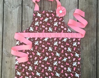 Craft apron kids apron easter basket gift princess apron kids apron horse lover gifts kindergarten graduation gifts girls apron birthday gift negle Image collections