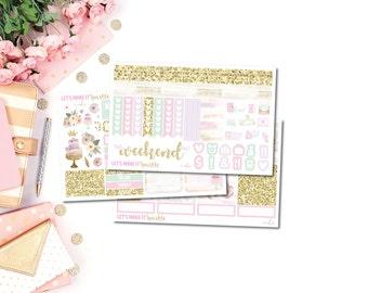 Cake Planner Sticker Kit (Horizontal), Birthday Sticker Kit, Birthday Planner Stickers, Pastel Stickers, Birthday, Cake Planner Stickers