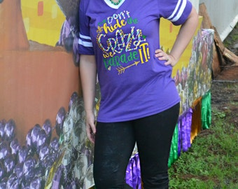 Woman's Mardi Gras Shirt - Adult Mardi Gras Shirt - Mardi Gras Shirt - Purple Mardi Gras Shirt - Mardi Gras Parade - Fat Tuesday Parade
