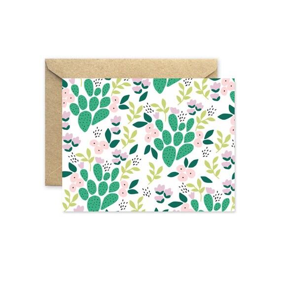 Whimsical Cactus - Greeting Card