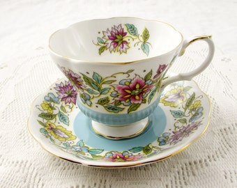 Royal Albert Torquay Tea Cup And Saucer Crown China By
