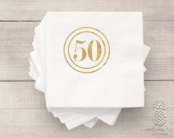 Birthday Party Napkins | Personalized Napkin | 50th Birthday Napkins