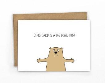 A Bear Hug Card | Sympathy Card | Empathy Card  by Cypress Card Co.