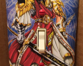Jesus Christ Warrior Light Switch Cover - Handmade - Son of God - Bible