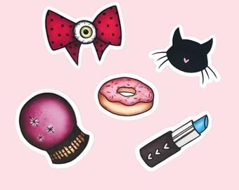Cute Things Sticker Packet - vinyl silkscreen stickers