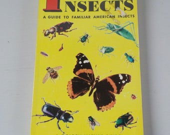 Vintage Golden Guide • Insects Pocket Nature Guide • Mid Century Bug Guide 1956