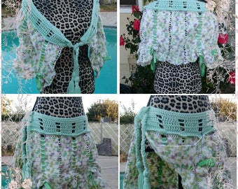 Little Trees Crochet Fernweh Wrap, Gypsy Skirt, Shawl