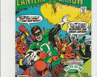 Green Lantern 107 VF Green Arrow Black Canary DC 1970s Superhero Comics Book Bronze Age August 1978 Christmas Stocking Stuffer for Him Her