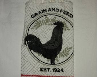Rooster Hanging Kitchen Towel