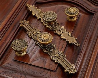 Dresser Knobs Handles Drawer Knobs Pulls Handles Kitchen Cabinet Knobs  Handles Antique Brass Ornate Furniture DoorOrnate furniture   Etsy. Antique Cabinet Hardware Uk. Home Design Ideas