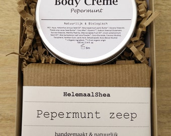 Gift set of an organic body cream and soap, great gift idea for mothersday / gift for friend / mother / handmade natural soap