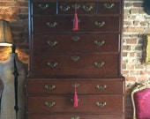 Beautiful Antique Chest on Chest Tallboy Drawers Mahogany Georgian 18th Century