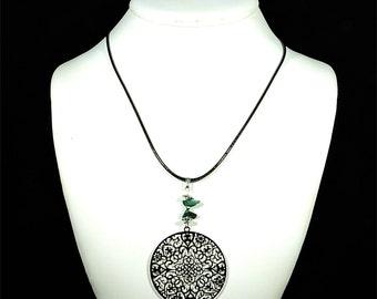 Malachite necklace, gemstone jewelry, dainty jewelry, green gemstone pendant necklace, yoga jewelry, malachite jewelry, yoga necklace cyl