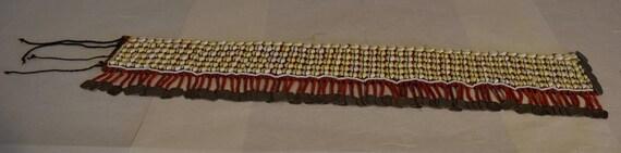 Belt Thailand Shells Coin  Akha Tribal Women Handmade Cloth Shells Costume Square Coins Womens Belt