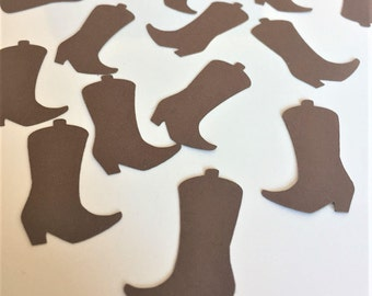 Cowboy Boot Confetti, Western Theme Party Decor, Paper Cowboy Boots, Country Baby Shower Decor, Rustic Wedding Decor
