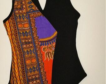 Women's Unique Chocker Bodysuits African Print Small And Medium
