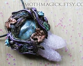 Amethyst Spirit Quartz and Labradorite Necklace