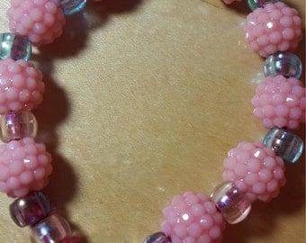 Handmade Beaded Bracelet | Beautiful Bracelet | Pink and Blue Bracelet | Size 14.5 cm | NEW!