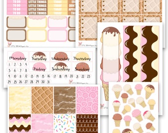 Ice Cream Collection // Planner Stickers