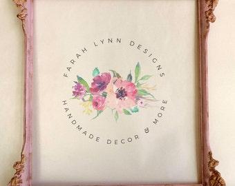 Blush Pink Vintage Frame, Shabby Chic, Baby Nursery, Pink Vintage Frame, Vintage Picture Frame, Wedding Frame, Nursery Frame, Baby Shower