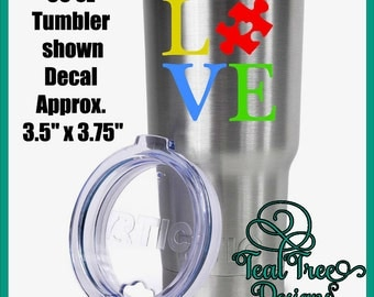 Autism Support 30 oz RTIC Tumbler