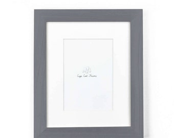 8x10 Picture Frame. Slate Gray 8x10 Frame. Solid Wood Photo Frame.