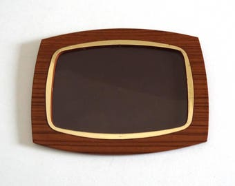Mid Century Picture Frame Imitating Formica Made in West Germany
