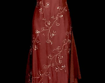 70s Vintage Beaded Gown           VG316
