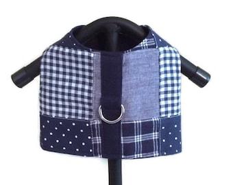 Dog Harness Vest, Boy Dog Clothes, Dog Harness, Small Dog Harness, Male Dog Vest, Plaid Harness Vest, Blue Dog Harness, Dog Clothes