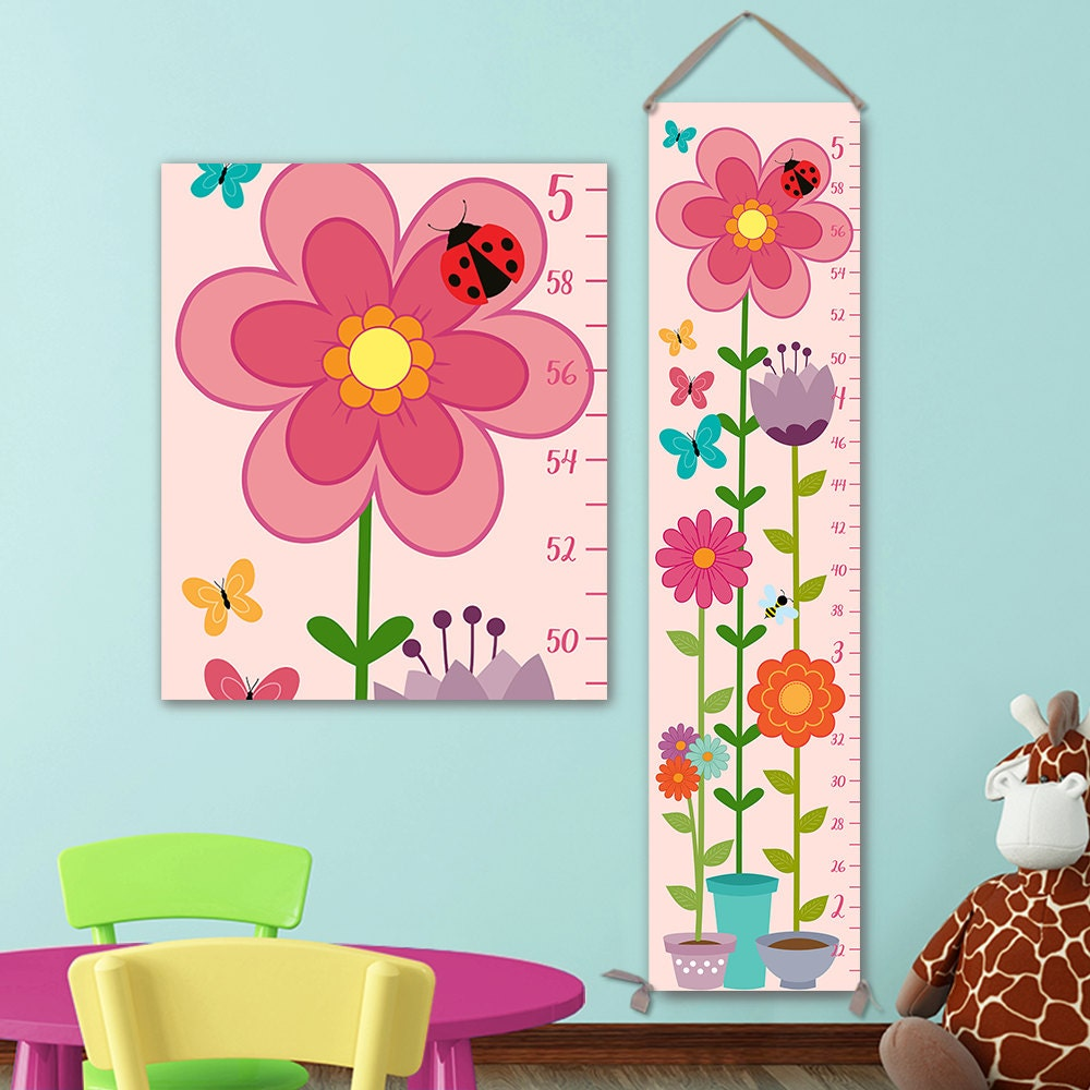 Floral growth chart flowers flowerpot growth chart height chart floral growth chart flowers flowerpot growth chart height chart ruler girls growth chart canvas growth chart gc0404s nvjuhfo Image collections