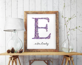 monogram letters wall hanging letters custom nursery letters nursery decor personalized nursery custom name sign purple nursery 1096