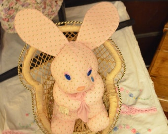 Crying tear bunny etsy uk cute easter bunny spring bunny pastel flowers stuffed animal toy easter gift easter basket bunny baby negle Choice Image