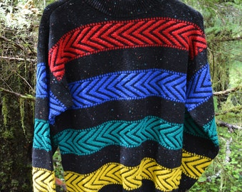 Vintage Chevron Striped Sweater
