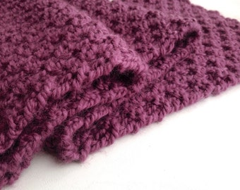 Gift Women, Knitted Scarf, Luxury Gifts for Her, Womens Scarf handmade, Pink Plum Scarf, Luxury Gifts, Hand Knitted Scarf 100% Baby Alpaca