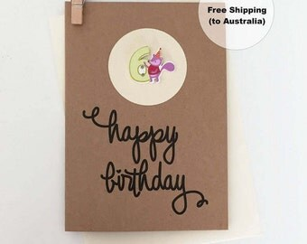 6th Birthday Card – 6th Happy Birthday Card – Age 6 Happy Birthday Card – Sixth Happy Birthday Card – Happy 6th Birthday Card