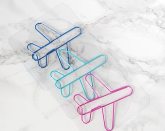 Plane Bookmark - Plane Paperclips - Plane Bookmarks - Plane Bookmarks - Travel Bookmark - Travel Bookmark - Travel Gift - Gift for Him