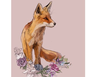 Fox Season - High quality giclee print of an original illustration