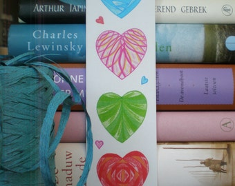 Bookmark Hearts - Bookmark Recycled Paper.