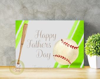 Fathers Day Card, Fathers Day Baseball, Baseball Dad, Card For Dad, Card For Fathers Day, Baseball Dad Day, Baseball Father's Card, Best Dad