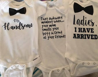 Baby Boy Onesies, Boy Onesies, Baby Boy Cute Onesies, Onesie Set Option, BUY more and SAVE