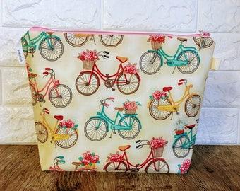 Knitting Bag, Yarn Bag, Crochet Tote, Knitting Project Bag, Zippered Project Bag, Craft Bag, Sock Project Bag, Craft Tote, Project Bag