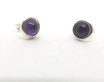 6 mm Amethyst Stud Earrings