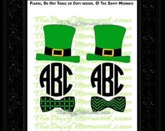 St Patricks Day Svg- St Patricks Day Monogram SVG file- St Patricks SVG Cut file- Cricut Vinyl St Patricks Day Shirt Svg- Silhouette Iron On