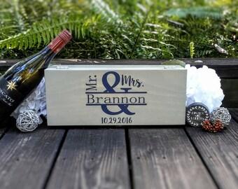 Wine Ceremony Box - Wine Box Ceremony - Wine Box For Wedding - Custom Wine Box - Gift For Couple - Engagement Gift