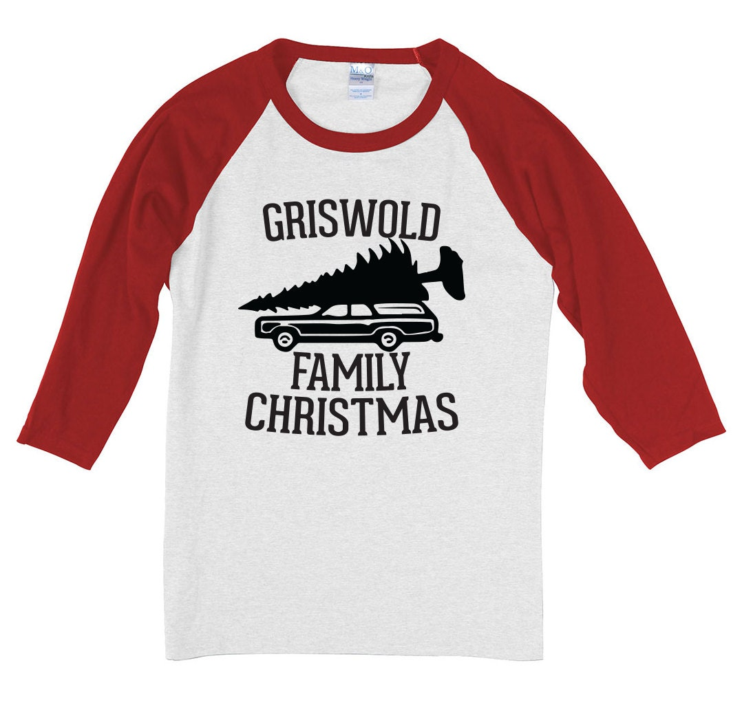 Custom family christmas shirts raglan style baseball tee shirt for Custom raglan baseball shirt