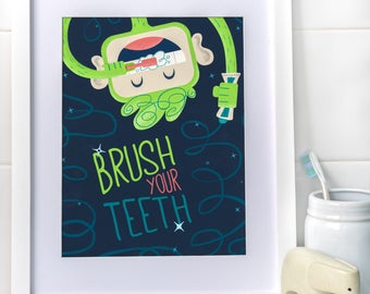 Brush Your Teeth, Myko! in Neon Green