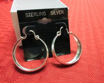 Large Sterling Silver Ring Earrings