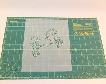 Horse Stencil - Reusable DIY Craft Stencil of Horse Jumping